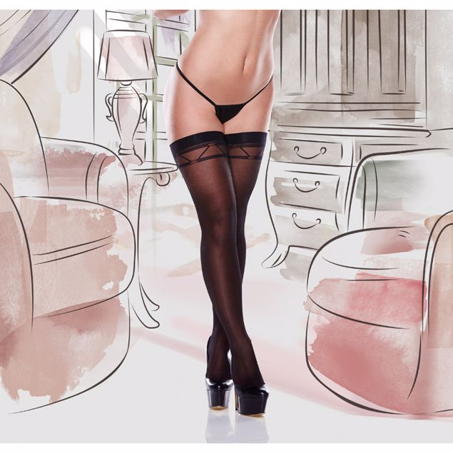 BLACK-JACQUARD-PATTERNED-THIGH-HIGHS-ONE-SIZE